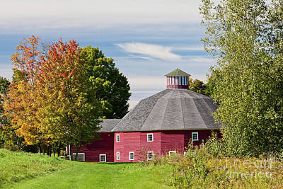 Photograph - Round Barn Early Autumn by Alan L Graham