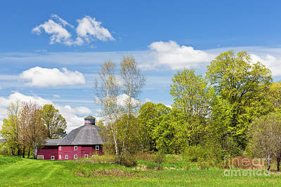 Photograph - Round Barn Spring by Alan L Graham