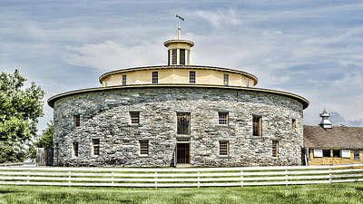 Round Barn Photograph - Round Barn by Stephen Stookey
