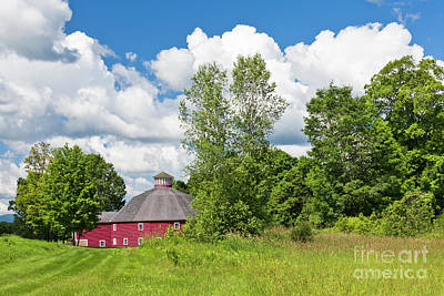 Photograph - Round Barn Summer by Alan L Graham