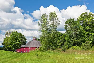 Photograph - Round Barn Summer by Alan L Graham