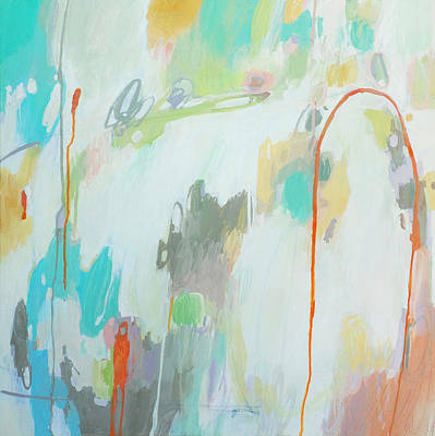 Drips Painting - Round Em Up by Stacy Vosberg