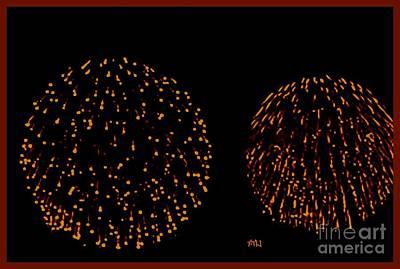 Photograph - Round Fireworks by Marsha Heiken