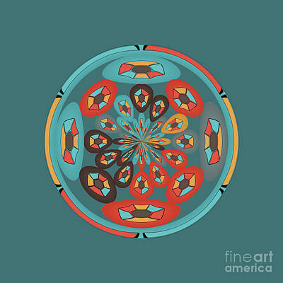 Round Geometric Design Art Print