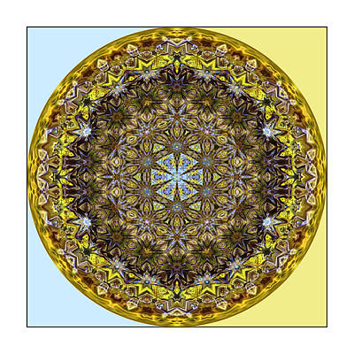Photograph - Round Geometric Design by Susan Leggett