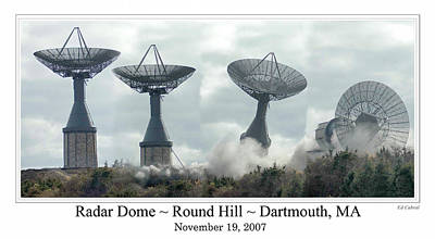 Digital Art - Round Hill Radar Demolition by Ed Cabral
