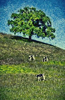Round Hill Tree Art Print by John K Woodruff