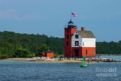 Photograph - Round Island Lighthouse by Jennifer White