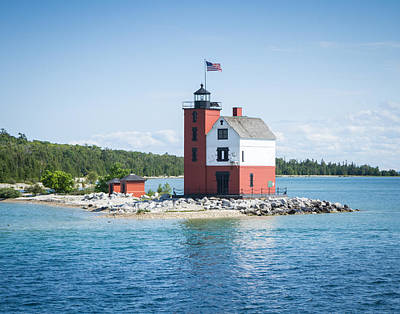 Photograph - Round Island Lighthouse by Kimberly Kotzian
