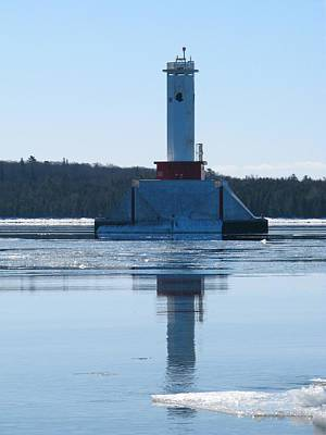 Photograph - Round Island Passage Light In Winter by Keith Stokes