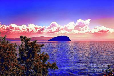 Photograph - Round Island Sunset by Rick Bragan
