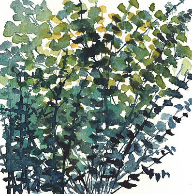 Painting - Round Leaf Eucalyptus Bunch by Garima Srivastava
