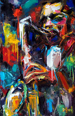 Painting - Round Midnight by Debra Hurd
