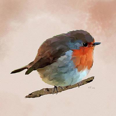 Painting - Round Robin - Erithacus Rubecula by Bamalam  Photography