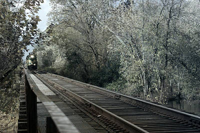 Railroad Mixed Media - Round The Bend by Off The Beaten Path Photography - Andrew Alexander