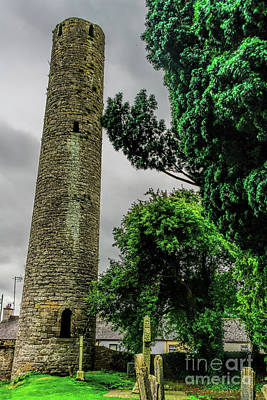 Photograph - Round Tower Of Kells, Ireland by Elvis Vaughn