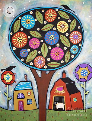 Buy Abstract Art Painting - Round Tree by Karla Gerard