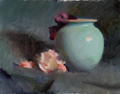 Wall Art - Painting - Round Vase Study by John Folley