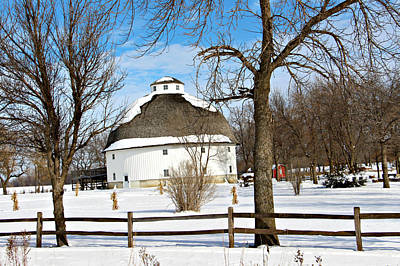 Photograph - Round White Barn II by Kathy M Krause