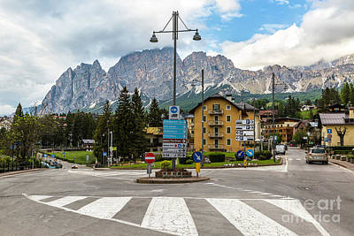 Personalized Name License Plates - Roundabout Cortina dAmpezzo  by Daryl L Hunter
