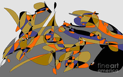 Digital Art - Rounded Curves by Nancy Kane Chapman