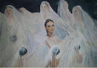 Painting - Roundelay. Ballet Dancers by Sylva Zalmanson