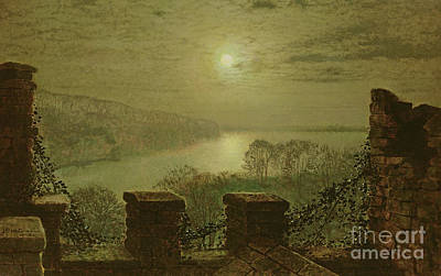 Painting - Roundhay Park From The Castle by John Atkinson Grimshaw