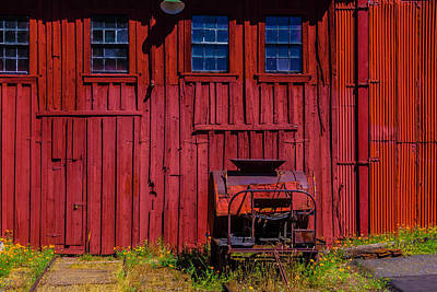 Roundhouse And Equipment Art Print