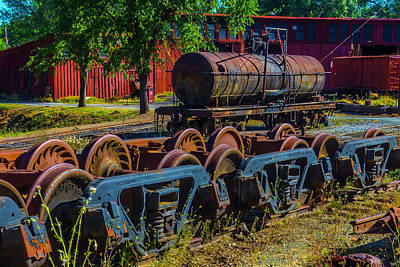 Old West Photograph - Roundhouse And Turntable by Garry Gay