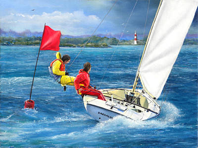 Painting - Rounding The Mark by Richard Barone