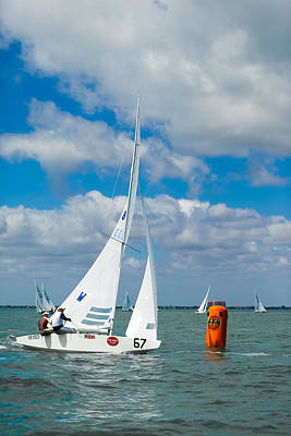 Photograph - Rounding The Mark - Star Class Racing Yacht - Bacardi Cup 2009 by David Smith