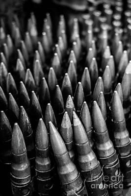 2nd Amendment Photograph - Rounds For Rounds Bw by Liesl Marelli