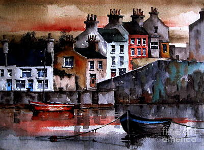 Painting - Roundstone Dusk, Galway by Val Byrne