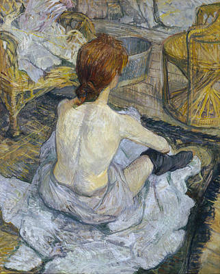 Indoor Painting - Rousse by Henri de Toulouse-Lautrec