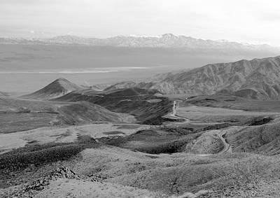 Panamint Valley Photograph - Route 190 And The Panamint Valley by Troy Montemayor