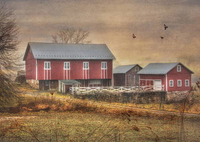 Rural Scenes Digital Art - Route 419 Barn by Lori Deiter