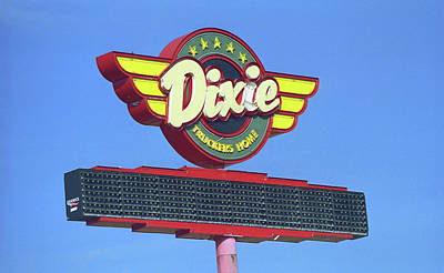 Route 66 - Dixie Truckers Home Art Print by Frank Romeo