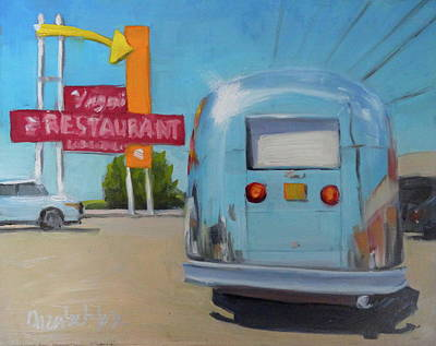Airstream Trailer Painting - Route 66 Airstream by Elizabeth Jose