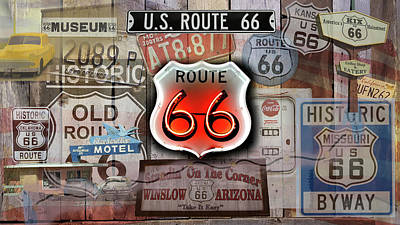 Photograph - Route 66 Americas Main Street by Jeff Folger
