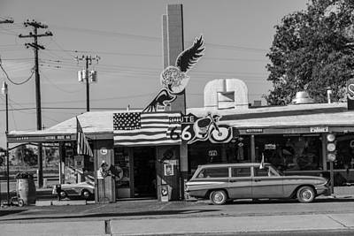 Photograph - Route 66 And Car by John McGraw