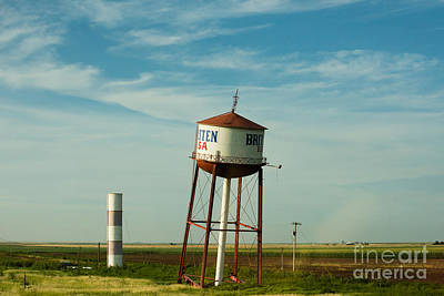 Photograph - Route 66 And The Leaning Water Tower Of Britten by MaryJane Armstrong