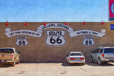 Photograph - Route 66 At Williams Arizona by Bonnie Follett