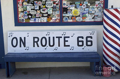 Wurlitzer Photograph - Route 66 Bench by Bob Christopher