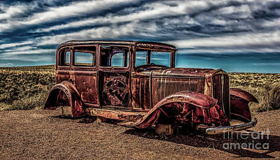 Photograph - Route 66 Car by Jon Burch Photography