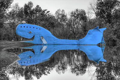 Photograph - Route 66 Catoosa Blue Whale - Two Tone by Gregory Ballos