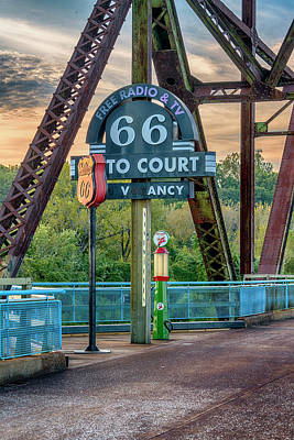 Photograph - Route 66 Chain Of Rocks Bridge St Louis 7r2_dsc2299_10012017 by Greg Kluempers