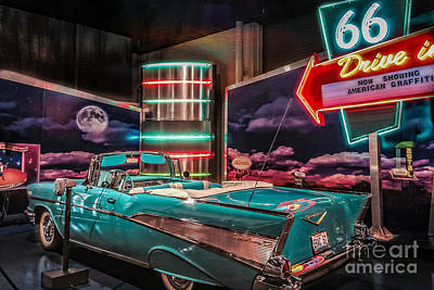 Photograph - Route 66 Chevy Bel-air by Peggy Franz