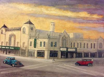 Painting - Route 66 Coleman Theatre Beautiful Miami Oklahoma  by Larry E Lamb