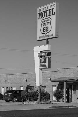 Photograph - Route 66 Deluxe Inn Motel  by John McGraw