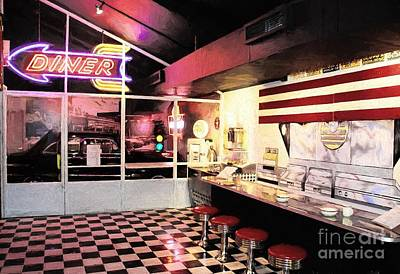 The White Stripes Photograph - Route 66 Diner by Mel Steinhauer